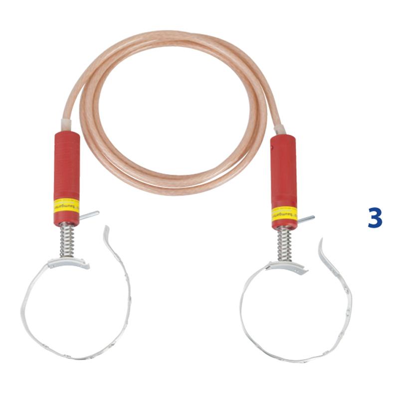 Überbrückungskabel 2,5 m / 25 mm² mit Spannvorrichtung für RohrØ13 ...